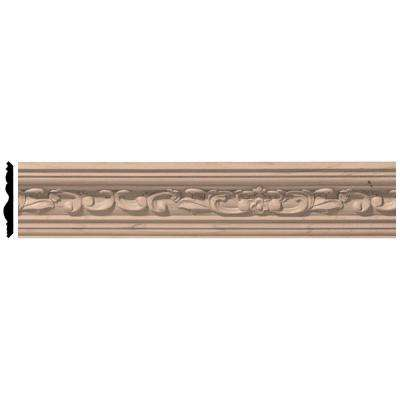 2-3/8 in. x 96 in. x 2-1/4 in. Unfinished Wood Maple Medway Carved Crown Moulding
