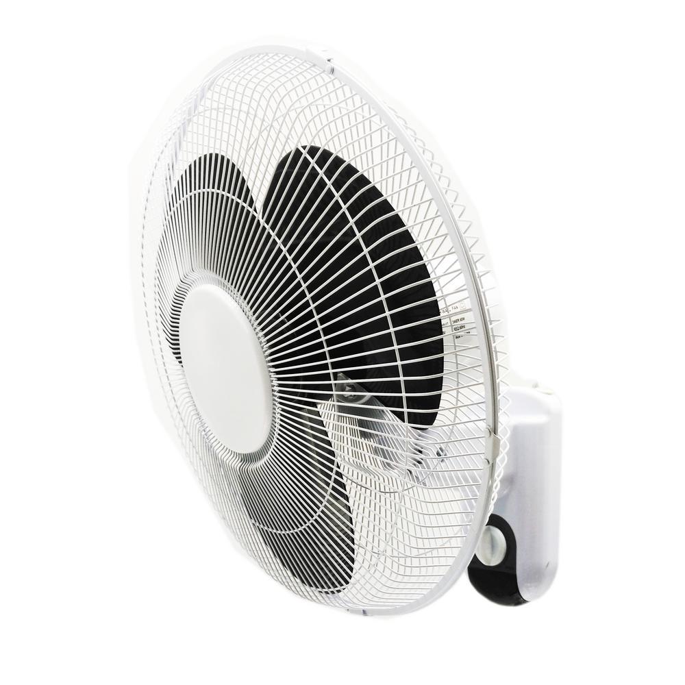 16 in. 3-Speed Oscillating Wall-Mount Fan