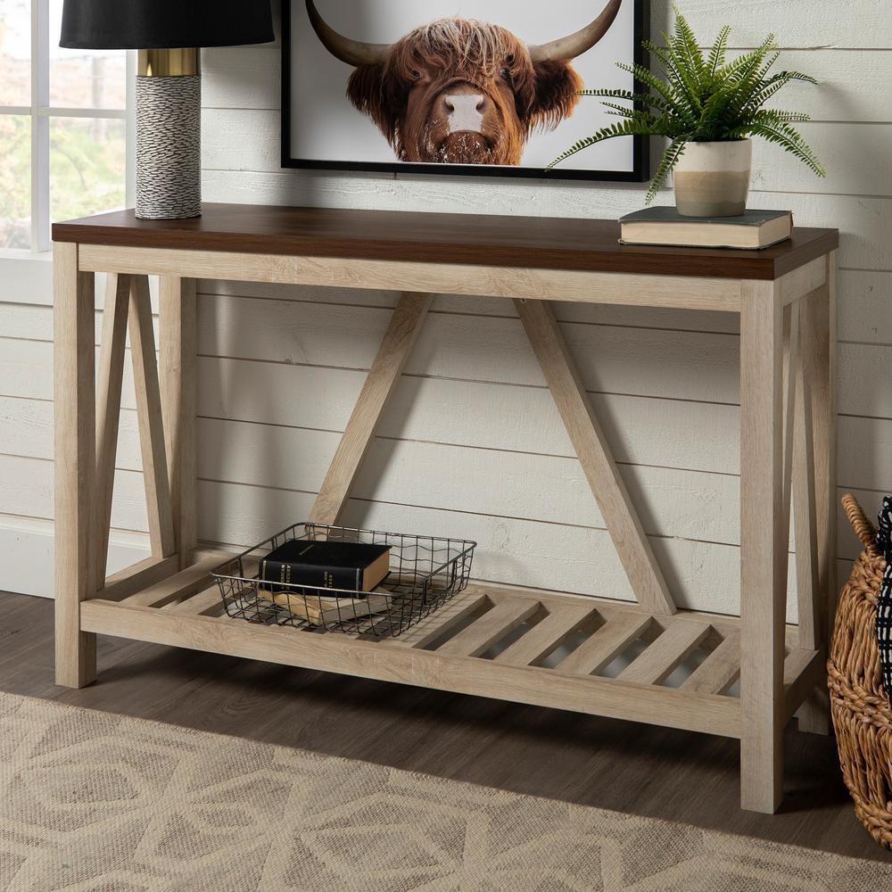 Furniture Companys: Walker Edison Furniture Company 52 In. White Oak Body A