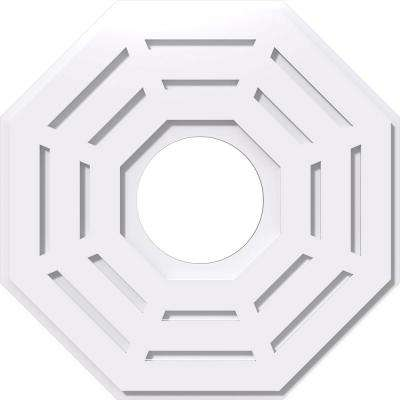 22 in. OD x 7 in. ID x 1 in. P Westin Architectural Grade PVC Contemporary Ceiling Medallion