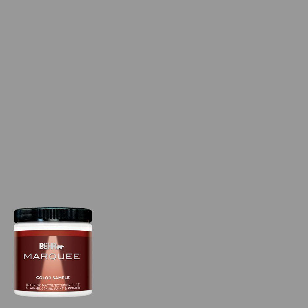 Home Decorators Collection Hdc Nt 10a Dolphin Gray One Coat Hide Matte Interior Exterior Paint Primer Sample