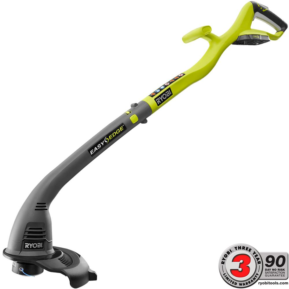 Ryobi One 18 Volt Lithium Ion Cordless Electric String Trimmer And Simple Ni Cad Battery Charger With Little Parts Edger