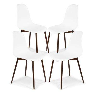 Landon White Sculpted Dining Chair (Set of 4)
