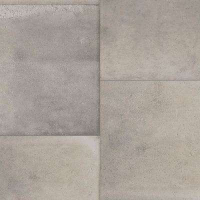 Keaton Grey Stone Residential Vinyl Sheet, Sold by 13.2 ft. Wide x Custom Length