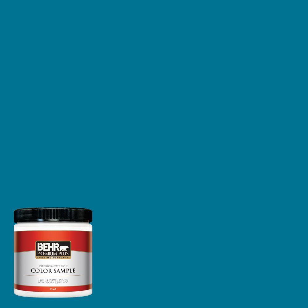 BEHR Premium Plus 8 oz. #S-G-520 Blue Luxury Interior/Exterior Paint Sample