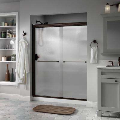 Semi Frameless Traditional Sliding Shower Door In