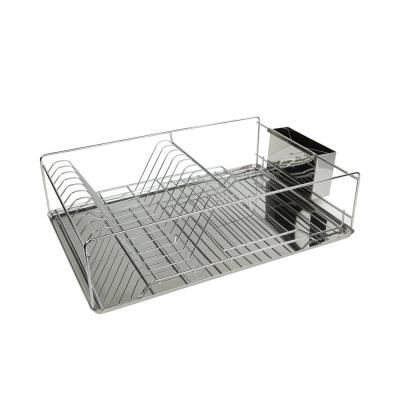 Stainless Steel Dish Rack Tray in Chrome