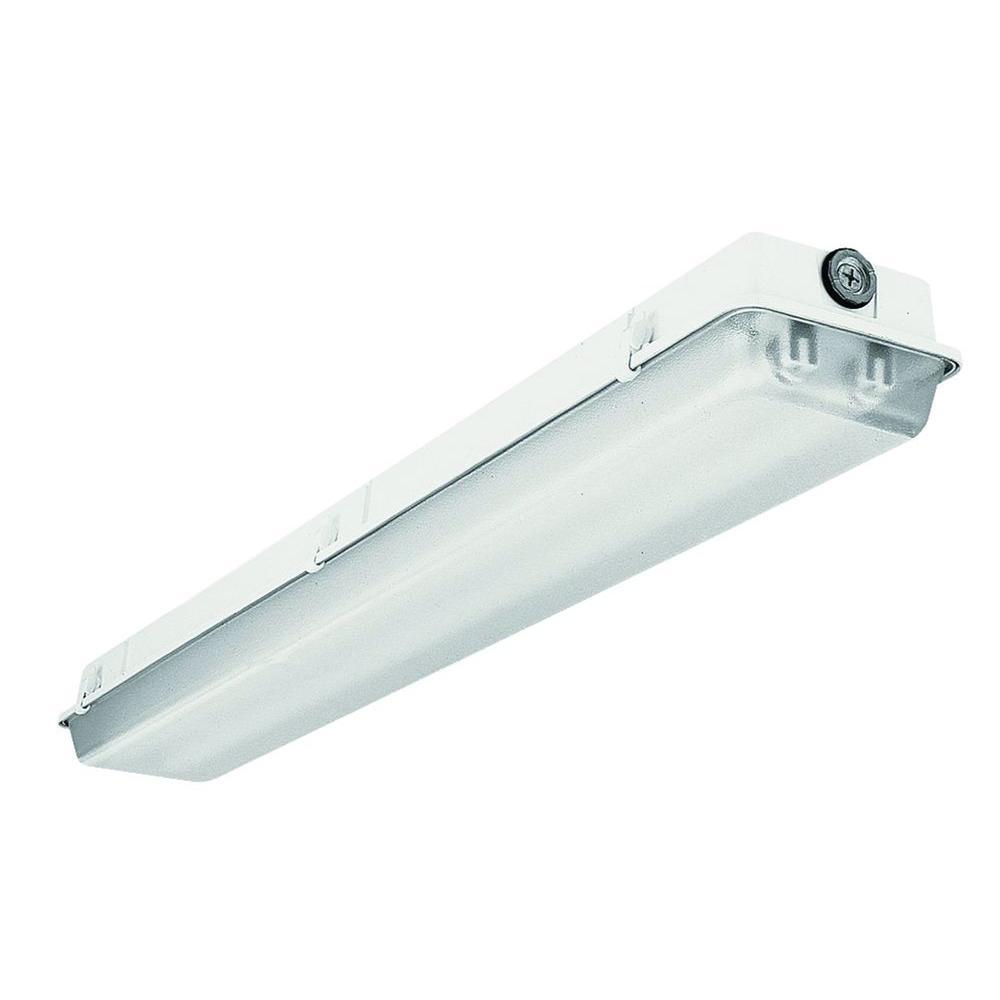 Fluorescent Light Elements: Lithonia Lighting 4 Ft. 2-Light White T5 High Output