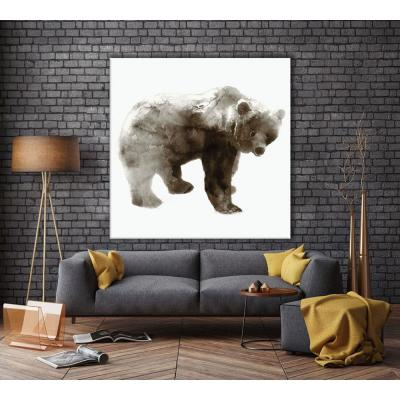 "84 in. x 84 in. ""Bear"" by Edward Selkirk Wall Art"