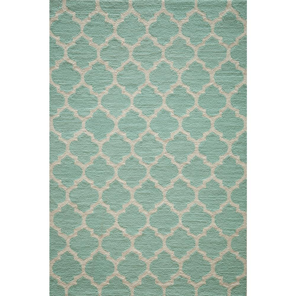 Geo Sky Blue 5 ft. x 7 ft. Indoor Area Rug