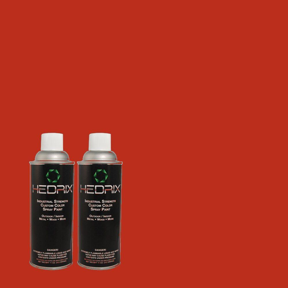 Hedrix 11 oz. Match of PPH-65 Red Passion Low Lustre Custom Spray Paint (2-Pack)