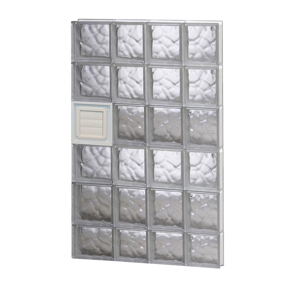 Clearly Secure 25 in. x 44.5 in. x 3.125 in. Frameless Wave Pattern ...