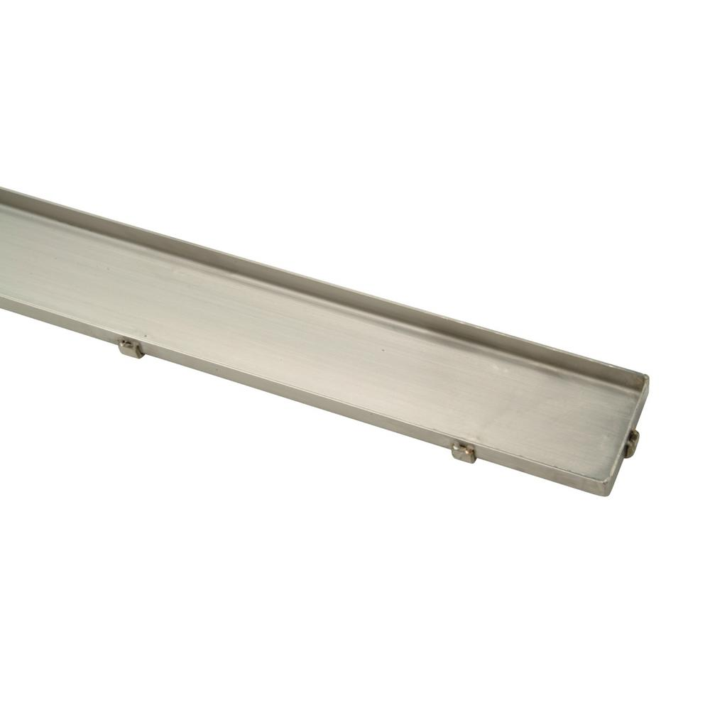 28 in. Stainless Steel Linear Shower Drain with Tile In-Lay Grate