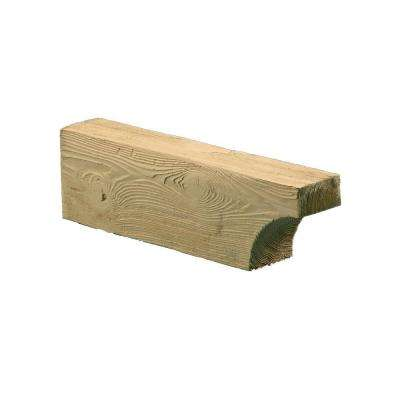 5-1/4 in. x 5-1/4 in. x 18 in. Polyurethane Timber Cove Corbel