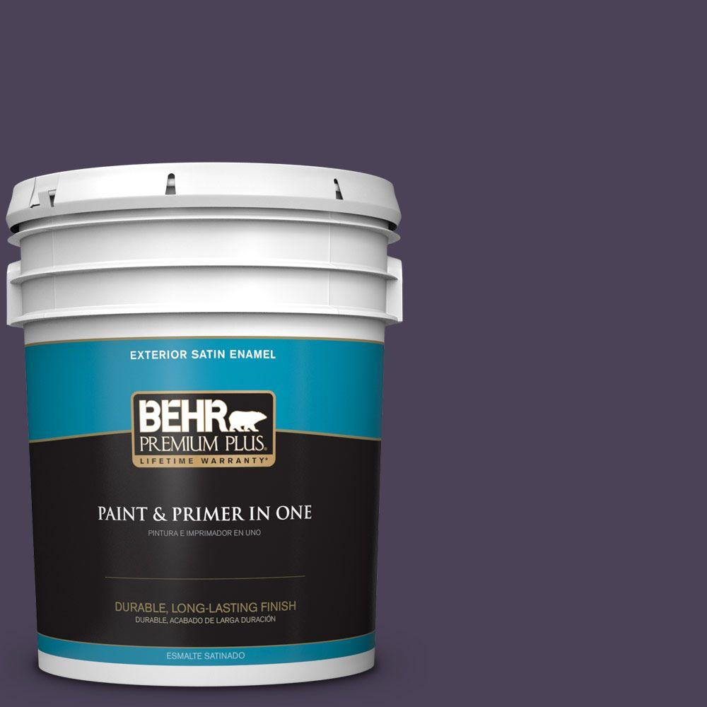 5-gal. #HDC-CL-06 Sovereign Satin Enamel Exterior Paint