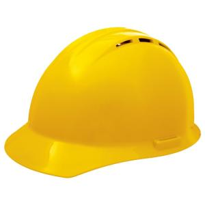 AOSafety Hard Hat Quick Adjusting Ratchet 4 Point Dielectric Yellow
