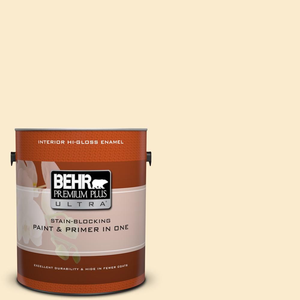 1 gal. #350E-2 Honey Moth Hi-Gloss Enamel Interior Paint