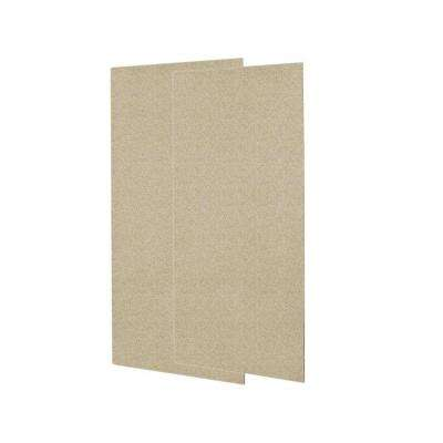 1/4 in. x 36 in. x 72 in. Two Piece Easy Up Adhesive Shower Wall Panels in Prairie