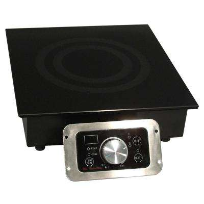 12.5 in. Built-In Electric Cooktop in Black with 1 Element
