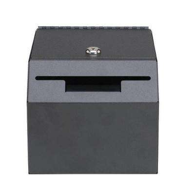 Lockable Suggestion Drop Box Safe with 2 Keys Included, Black