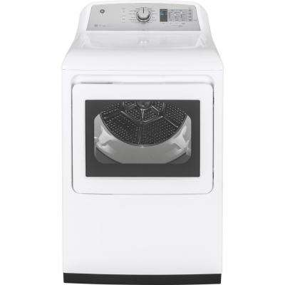 7.4 cu. ft. 120 Volt White Gas Vented Dryer with Steam and Wifi Connected, ENERGY STAR