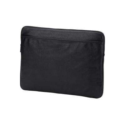 Black Vegan Leather Laptop Sleeve fits up to 15 in. Laptop