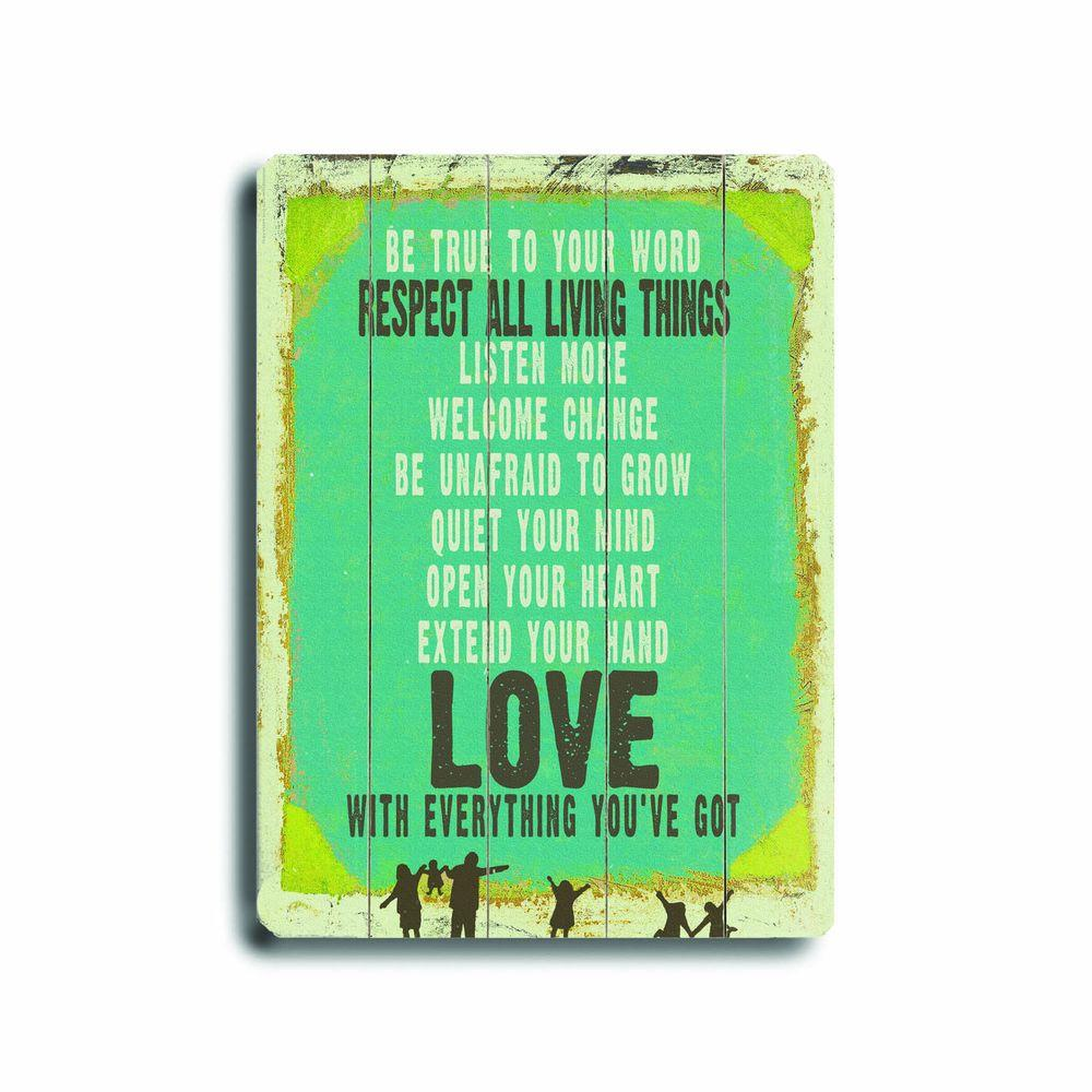 ArteHouse 9 in. x 12 in. Love is Everything Wood Sign-DISCONTINUED