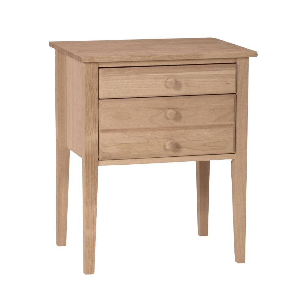 International Concepts Unfinished Storage End Table Ot 66