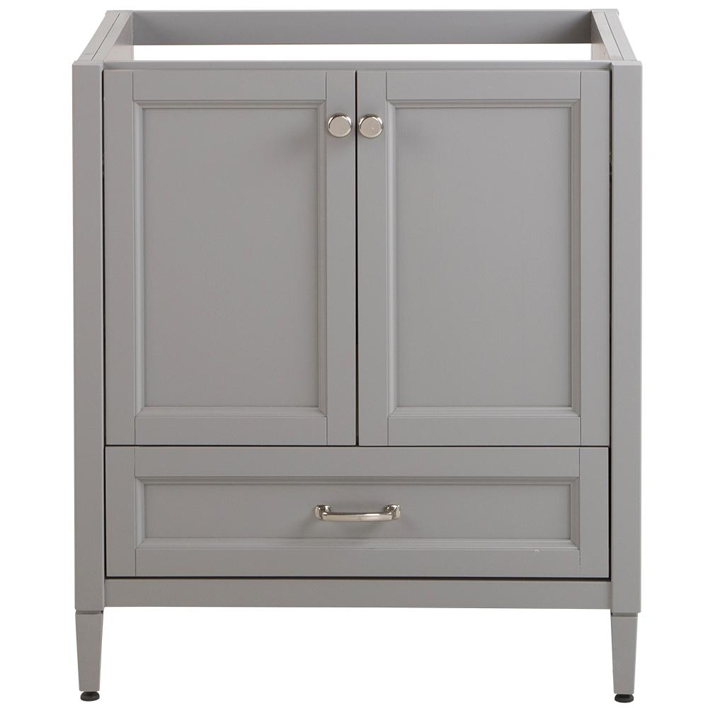 Home Decorators Collection Claxby 30 in. W x 34 in. H x 21 in. D Bath Vanity Cabinet Only in Sterling Gray