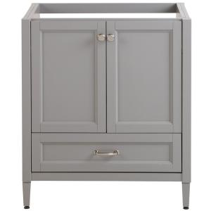 Claxby 30 in. W x 34 in. H x 21 in. D Bath Vanity Cabinet Only in Sterling Gray