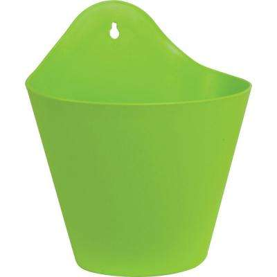 Mela 8-1/2 in. Green Plastic Wall Planter