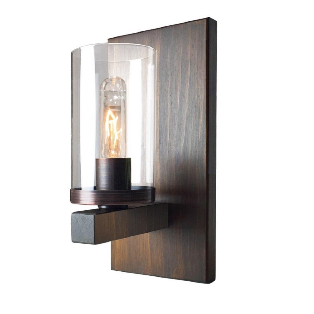 Jasper Park 1-Light Brunito Bronze Sconce