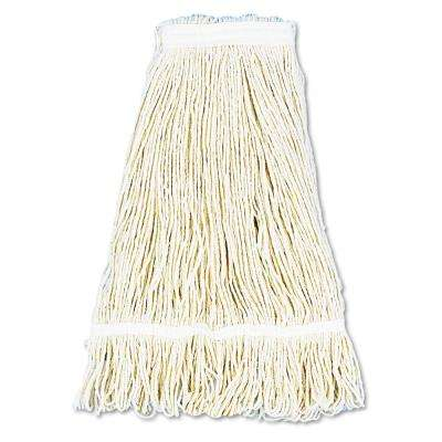 24 oz. Cotton Pro Loop Web/Tailband Wet Mop Head in White (12-Carton)