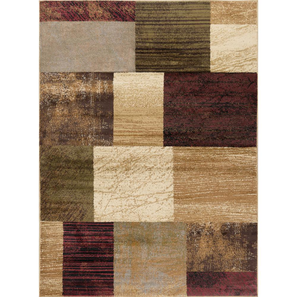 Tayse Rugs Elegance Multi 7 Ft 6 In X 9 Ft 10 In