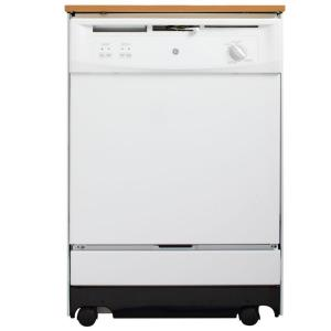 Ge Convertible Portable Dishwasher In White Gsc3500dww