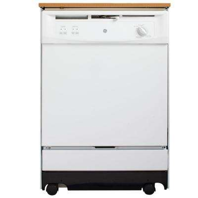 Convertible Portable Tall Tub Dishwasher in White