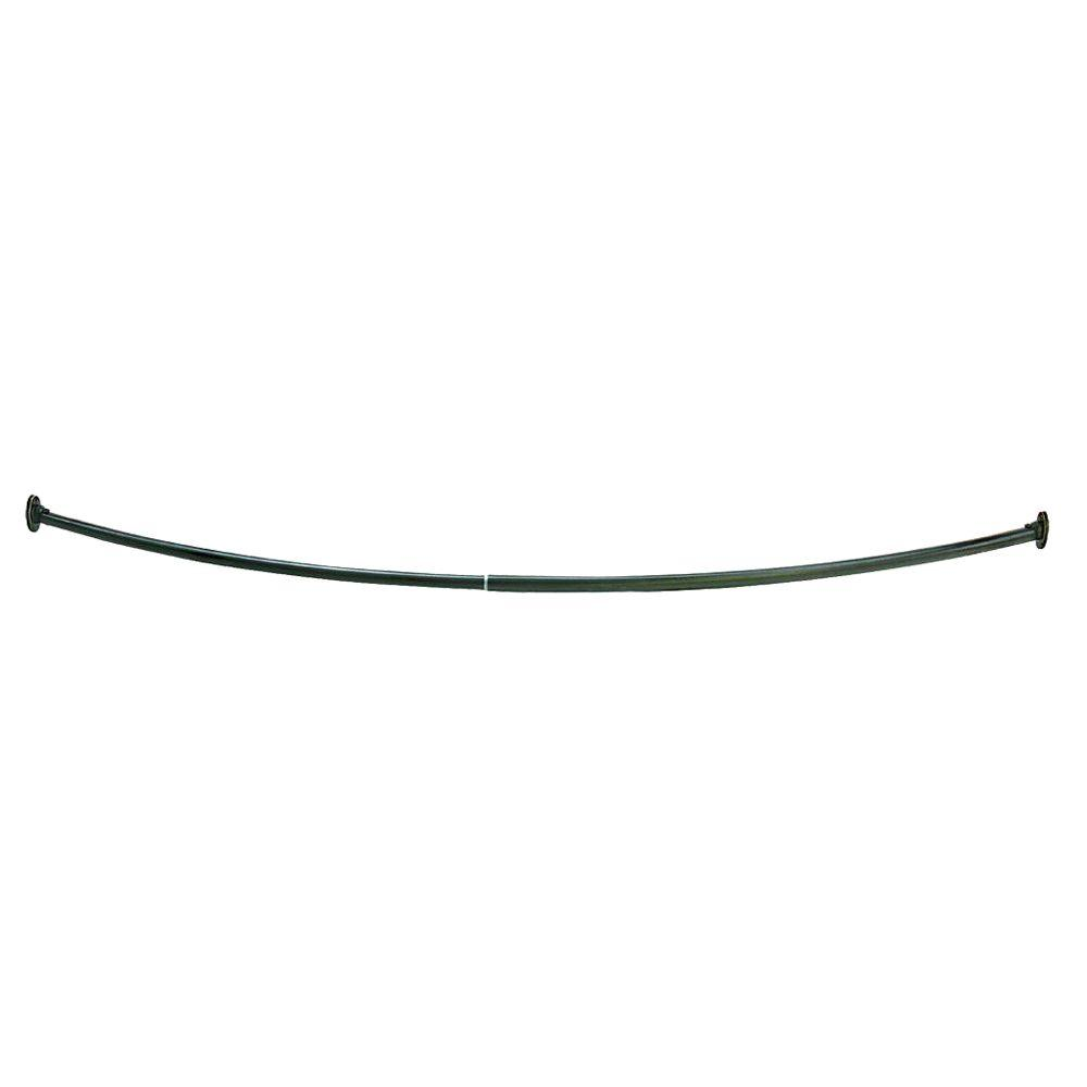 55 in. - 63 in. Steel Curved Shower Rod in Oil