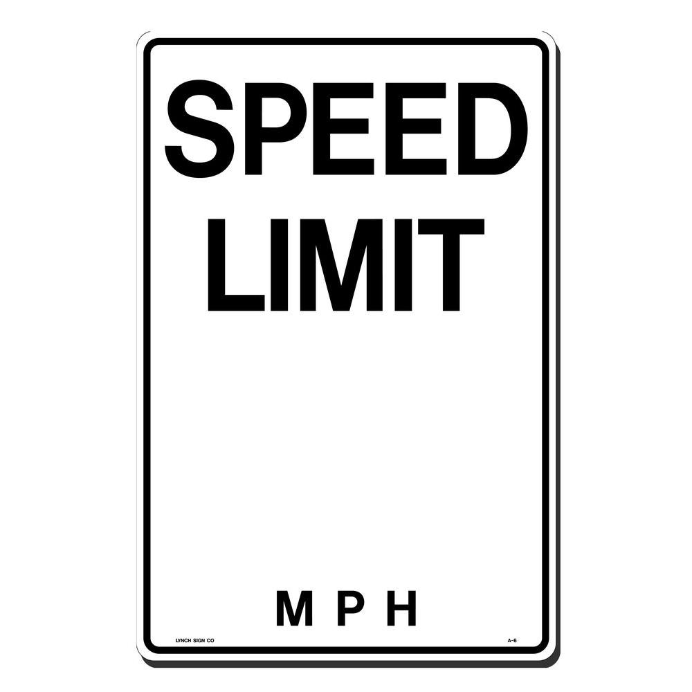 lynch sign 12 in  x 18 in  speed limit with blank m p h  sign printed on more durable  thicker