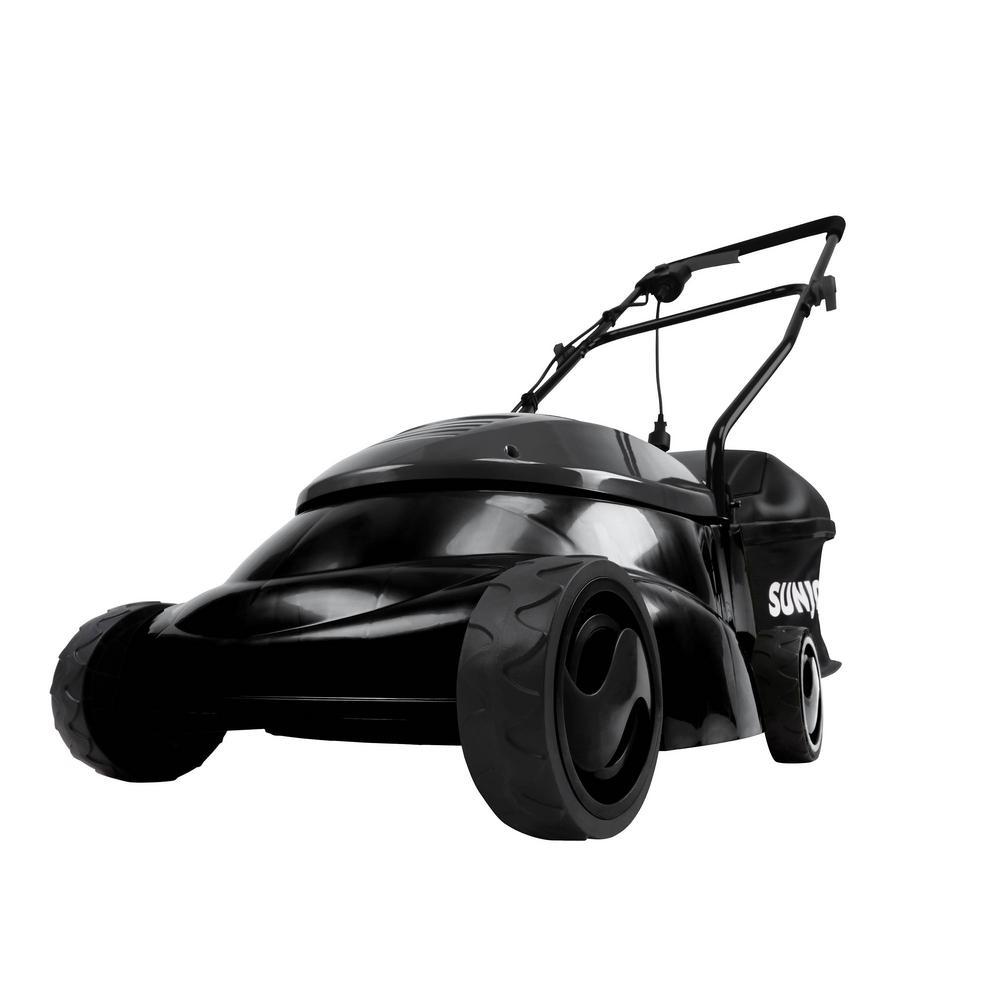 14 in. 12 Amp Electric Walk Behind Push Lawn Mower, Black