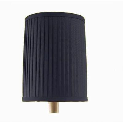 null Navy Box-Pleated Shade