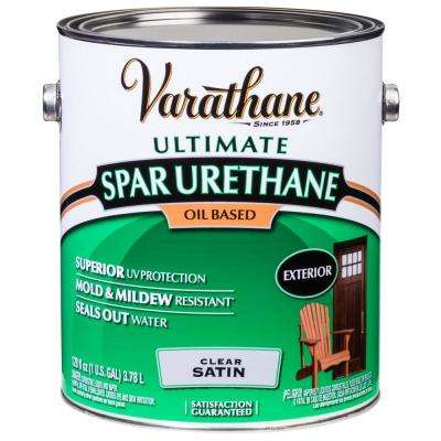 1 gal. Clear Satin Oil-Based Exterior Spar Urethane (2-Pack)