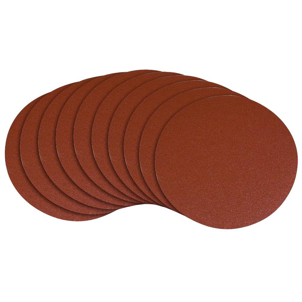 POWERTEC 6 in. 100 Grit PSA Aluminum Oxide Sanding Disc/Self Stick (10