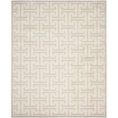 Amherst Ivory/Light Gray 9 ft. x 12 ft. Indoor/Outdoor Area Rug