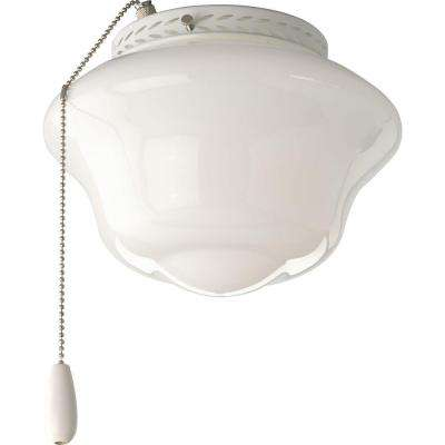 AirPro 1-Light White Ceiling Fan Light