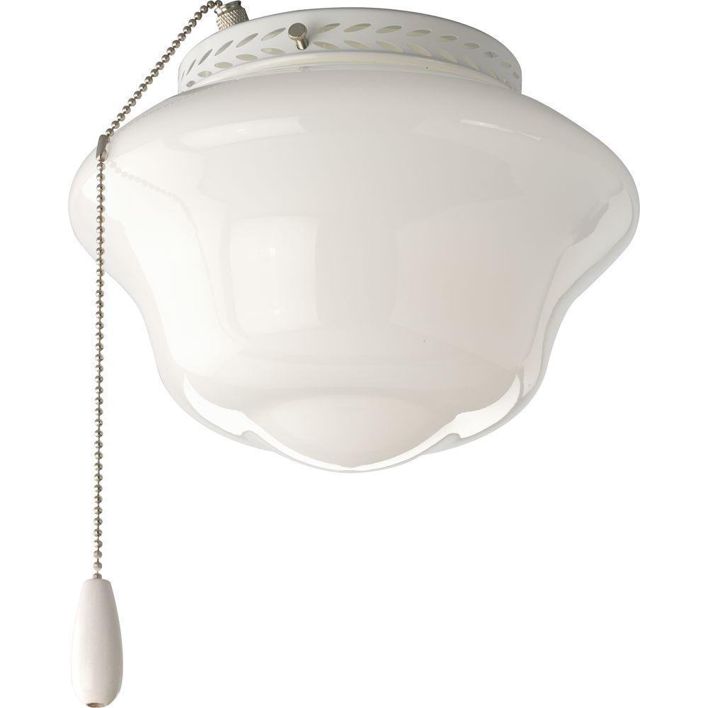 AirPro 1-Light White Ceiling Fan Light