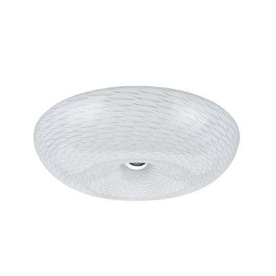 16 in. 16.25-Watt Chrome Integrated LED Ceiling Flush Mount with Frosted Glass Diffuser