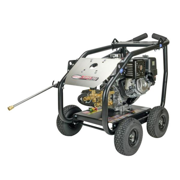Super Pro Roll-Cage 4000 PSI at 3.5 GPM HONDA GX270 Cold Water Professional Gas Pressure Washer