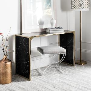 Kylie Black/Brass Console Table