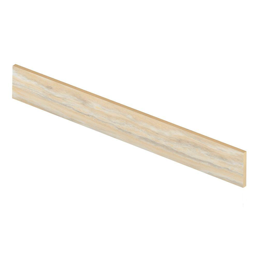 Aegean Travertine Natural 47 in. Long x 1/2 in. Deep x 7-...