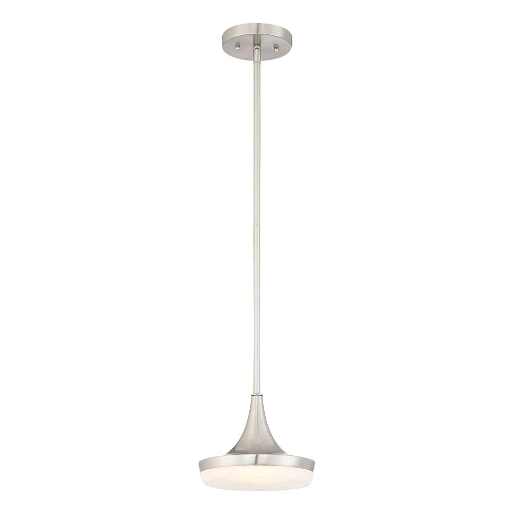 Home Decorators Collection 40-Watt Equivalent 8 in. Brushed Nickel Integrated LED Mini Pendant was $58.47 now $30.58 (48.0% off)